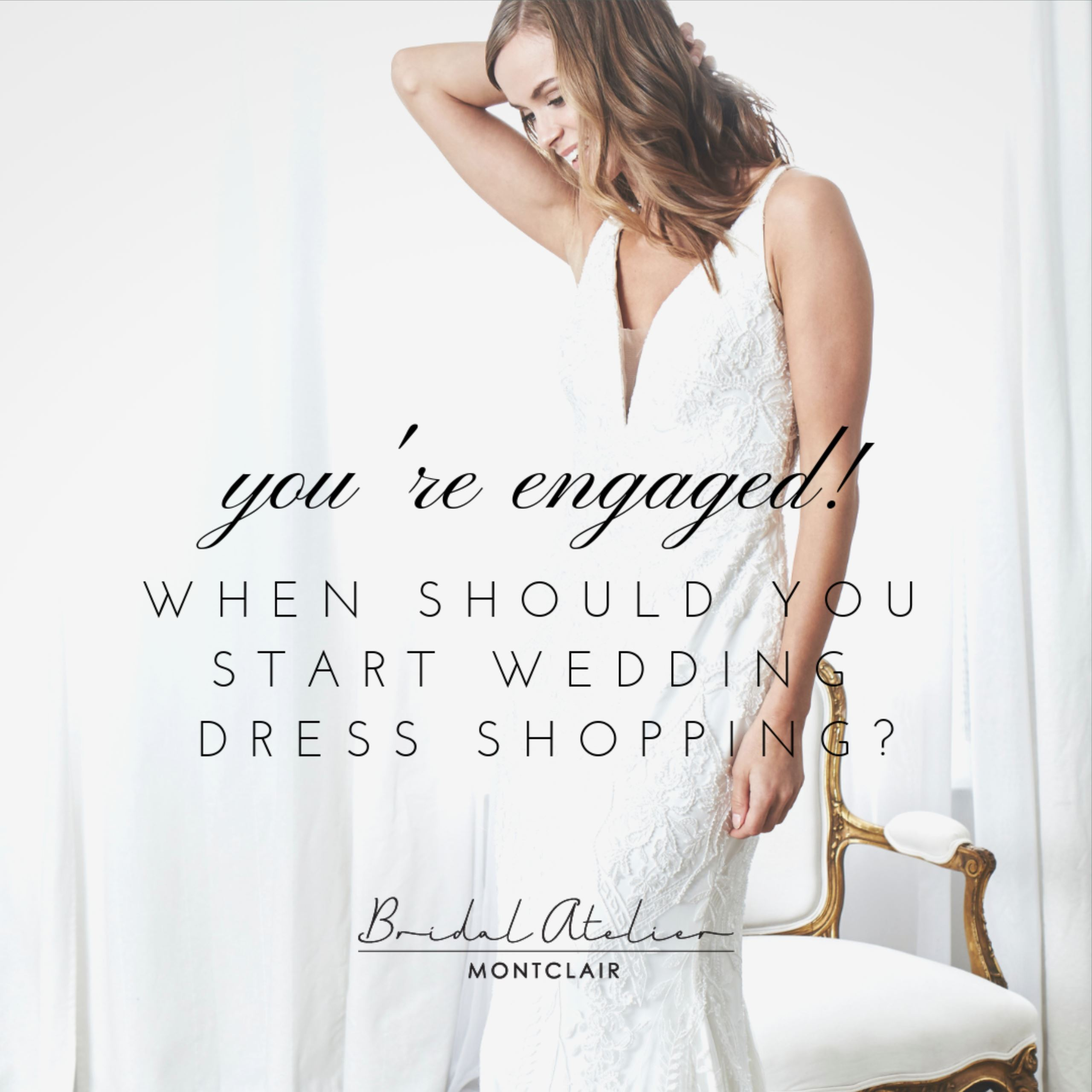 YOU'RE ENGAGED! WHEN SHOULD YOU START WEDDING DRESS SHOPPING?. Desktop Image